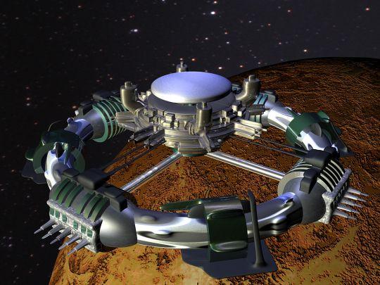Orbital defense station